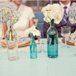 Faça você mesma: Castiçais e vasos de garrafas para seu casamento