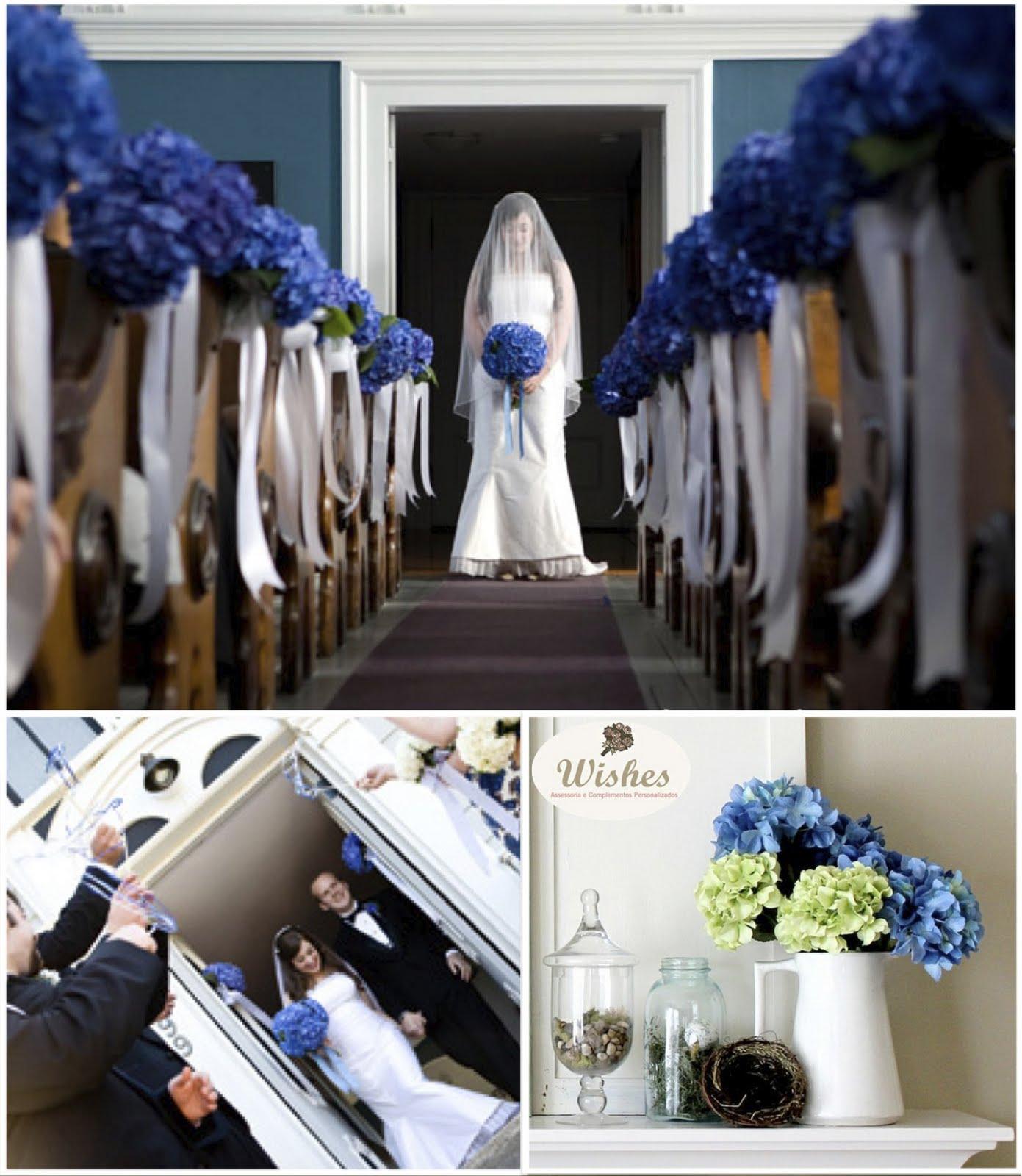 Decoração de Casamento Azul » casamentohortensiaazul