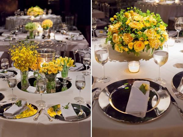 decoracao para casamento em azul e amarelo:Decoração de Casamento Amarela