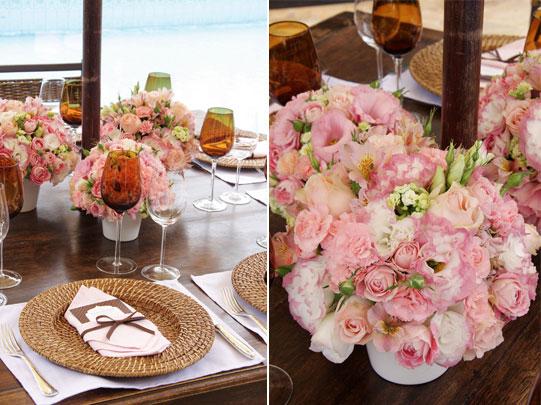 decoracao branca e rosa para casamento:Decoração de Casamento Rosa