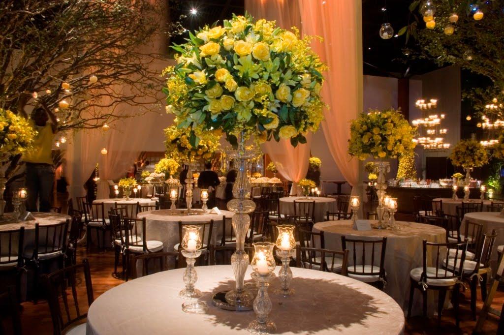 da decoração de casamento em amarelo  Blog Noivas do Rio de Janeiro
