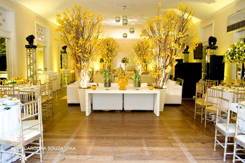 decoracao de casamento na igreja azul e amarelo: da decoração de casamento em amarelo