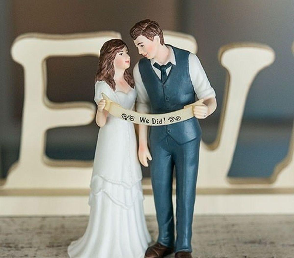 Viking Wedding Cake Toppers