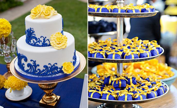 decoracao de casamento azul e amarelo simples : decoracao de casamento azul e amarelo simples: Decoração azul e amarela para casamentos