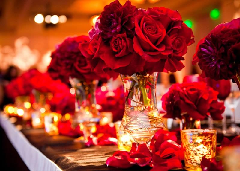 Decoração de casamento Vermelho: A cor oficial do amor