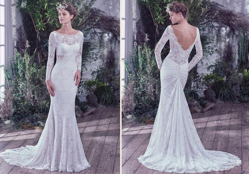 Vestidos de noiva com manga de renda