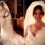 Carolina Ferraz usa vestido da Pronovias na novela Avenida Brasil