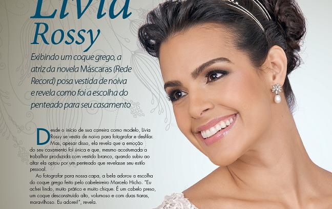 Atriz Livia Rossy na revista Penteados para Noivas