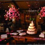 Decoração de Casamento Marrom e Rosa