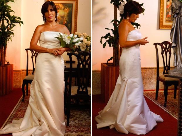 Glória Pires usa Vestido de Noiva da Pronovias