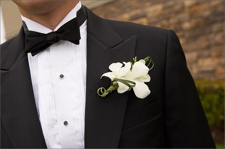 Três opções de Flor para a Lapela dos Noivos