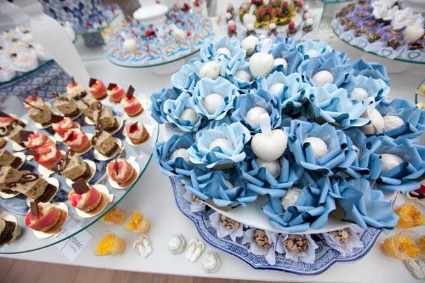 Casamento com Decoração Azul e Branco