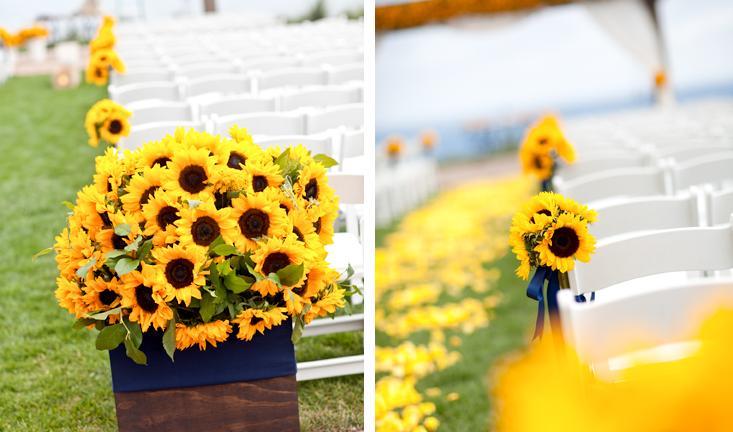 Toda alegria dos girassóis na decoração do casamento