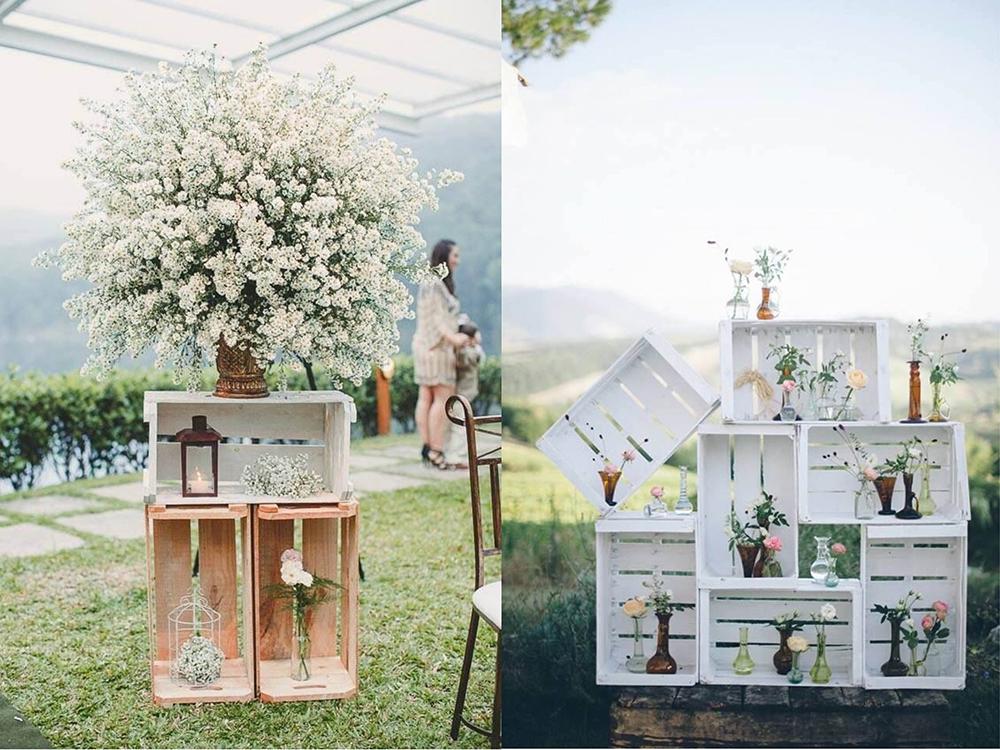 O uso do Pallet na decoração do casamento