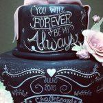 Bolo de casamento chalkboard