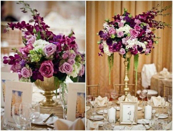 Decoração de casamento púrpura