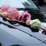 Decoração para o carro dos noivos