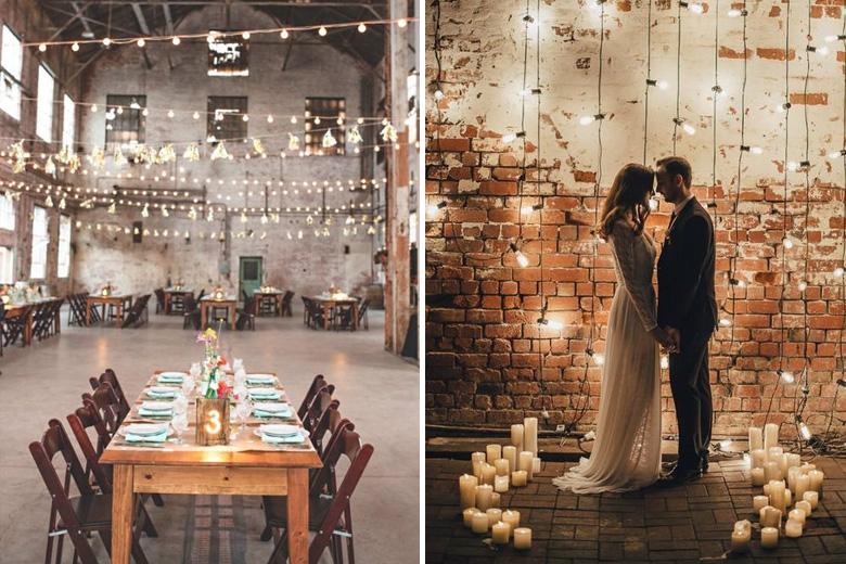 É tendência: Decoração Industrial nos Casamentos