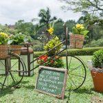 Utilizando bicicleta na decoração de casamento