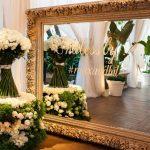 Decoração de casamento utilizando espelhos