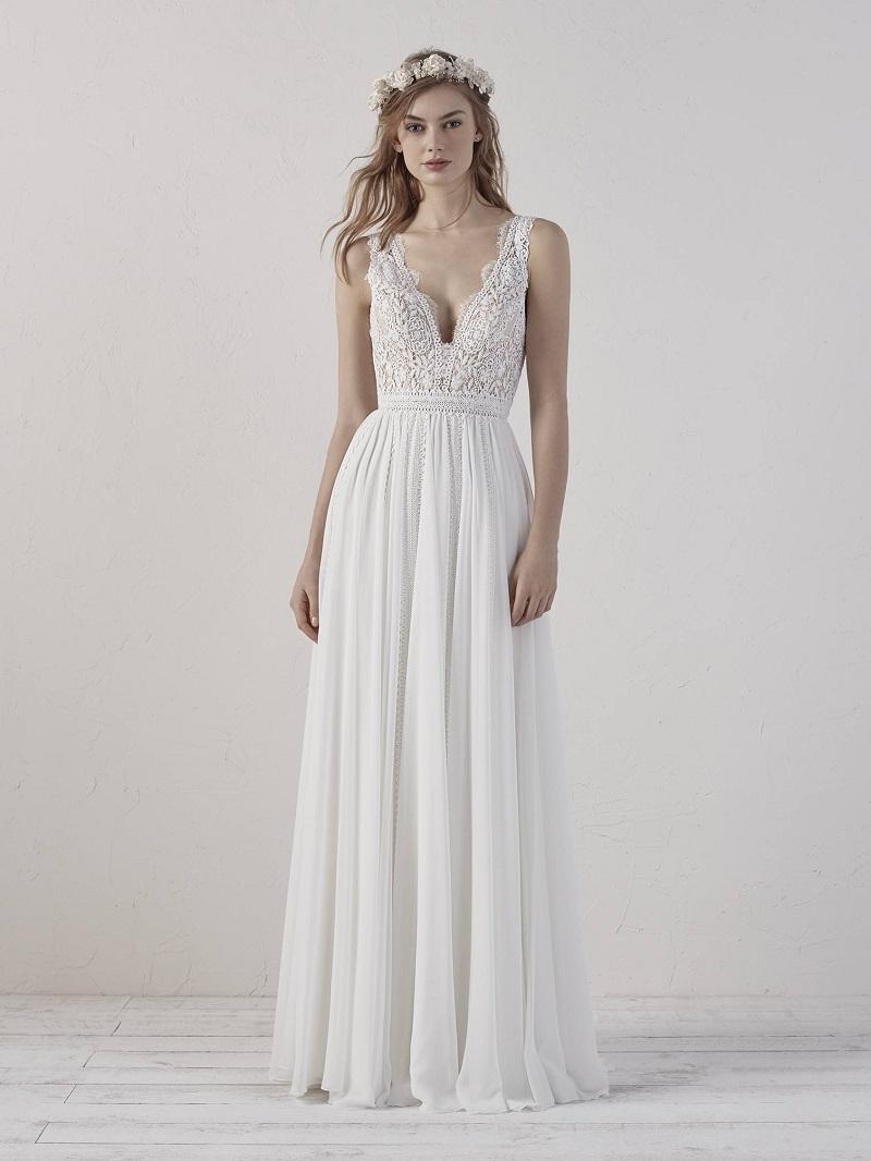 Vestido de noiva bonito e simples
