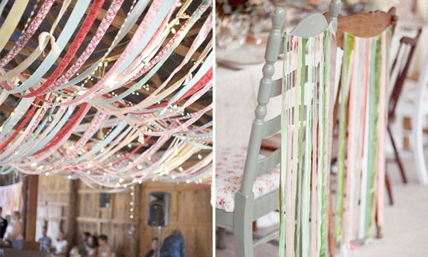 Fitas na decoração de casamento