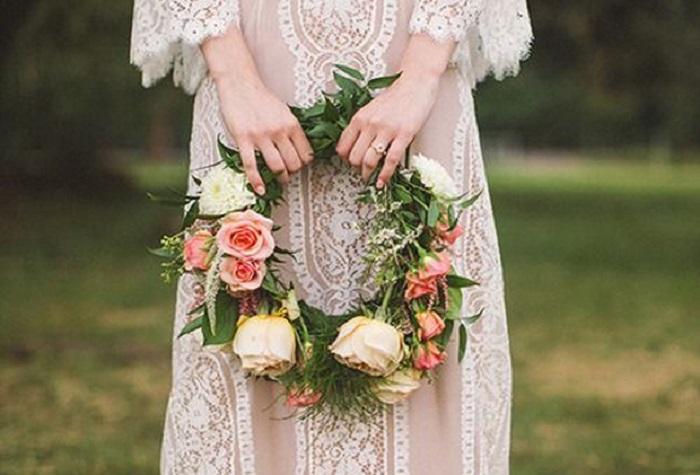 É tendência: Hoop Bouquet